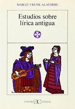 portada Estudios Sobre Lirica Antigua