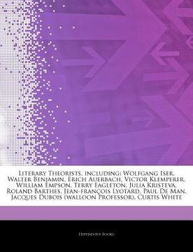 portada articles on literary theorists, including: wolfgang iser, walter benjamin, erich auerbach, victor klemperer, william empson, terry eagleton, julia kri
