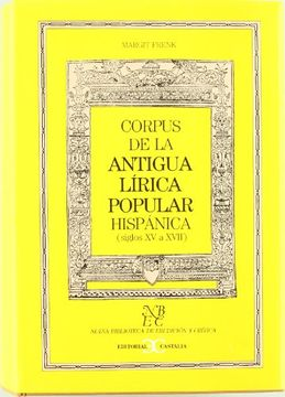 portada Corpus de la Antigua Lirica Popular Hispanica