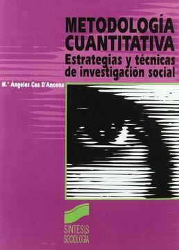 portada Metodología Cuantitativa: Estrategias y Técnicas de Investigación Social: 1 (Síntesis Sociología)