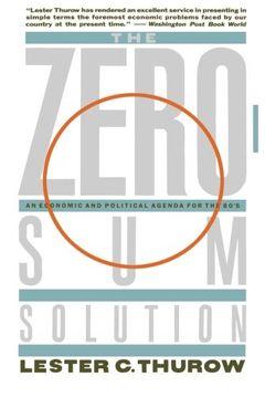 portada Zero-Sum Solution (libro en Inglés)