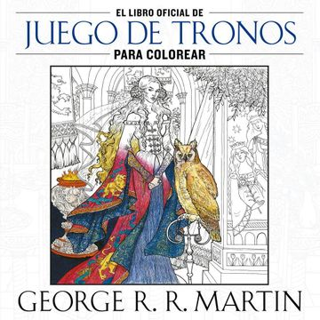 portada Libro Oficial de Juego de Tronos Para Colorear