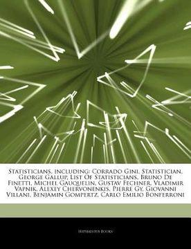portada articles on statisticians, including: corrado gini, statistician, george gallup, list of statisticians, bruno de finetti, michel gauquelin, gustav fec