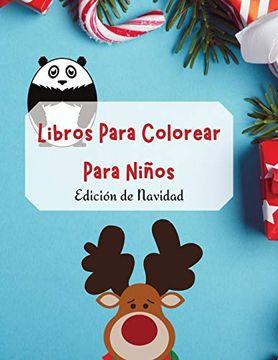 portada Libros Para Colorear Para Niños - Edición de Navidad