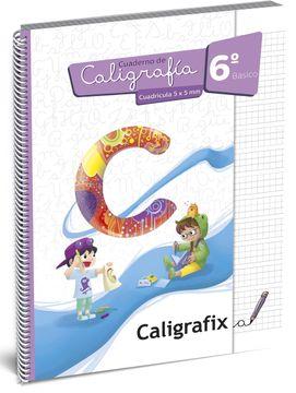 portada Caligrafia Cuadricula 6º Basico Caligrafix