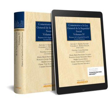 portada Comentarios a la ley General de la Seguridad Social (Volumen iv) (Papel + E-Book). Régimen de la Seguridad Social ii: Acción Protectora