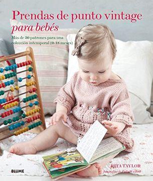 portada Prendas de Punto Vintage Para Bebes
