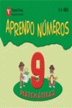 portada aprendo números, matemáticas, educación infantil, 5-6 años. cuaderno 9