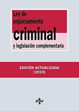portada Ley de Enjuiciamiento Criminal y Legislación Complementaria