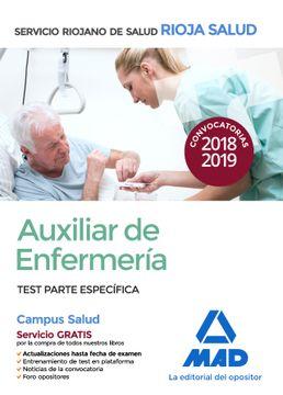 portada Auxiliar de Enfermería del Servicio Riojano de Salud. Test Parte Específica