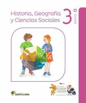 portada Historia, Geografía y Ciencias Sociales 3 Saber Hacer