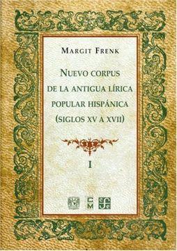 portada Nuevo Corpus de la Antigua Lírica Popular Hispánica