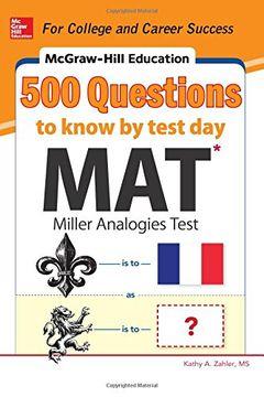 portada Mcgraw-Hill Education 500 mat Questions to Know by Test day (Mcgraw-Hill Education 500 Questions) (libro en Inglés)
