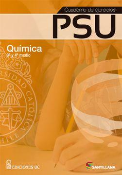 portada Cuaderno de Ejercicios psu Quimica 3° y 4° Medio (2015) Santillana