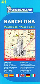 portada Plano Plegable Barcelona (Planos Michelin) (libro en Inglés)
