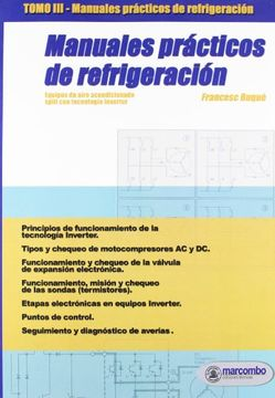 portada Manuales Prácticos de Refrigeración. Tomo 3:  Equipos de Aire Acondicionado Split con Tecnología Inverter