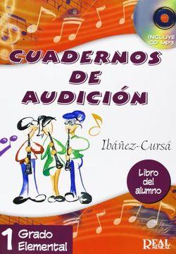portada Cuadernos de Audición, 1 Grado Elemental (Libro del Alumno) (rm Audicion)