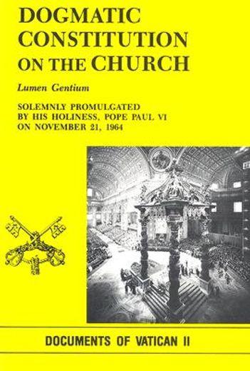dogmatic constitution on the church: lumen gentium