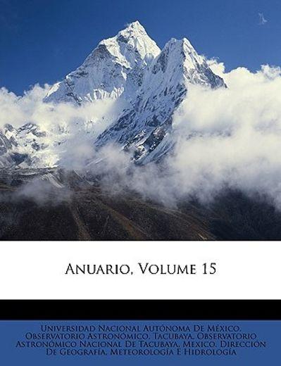 anuario, volume 15